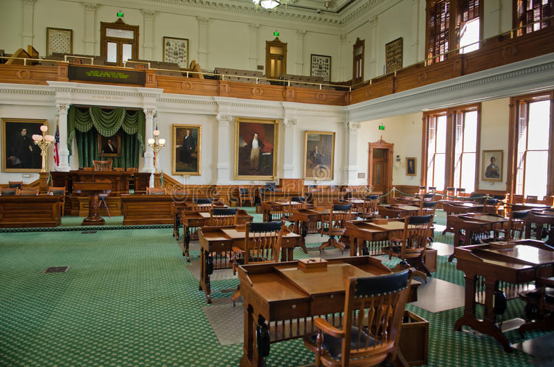 Texas Senate Chamber. The Senate Chamber of Texas in Austin, Texas royalty free stock photography