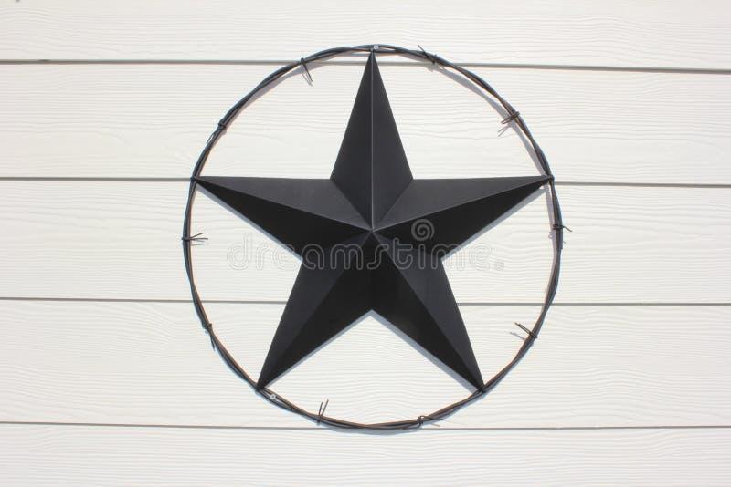 Texas Star negro imagen de archivo