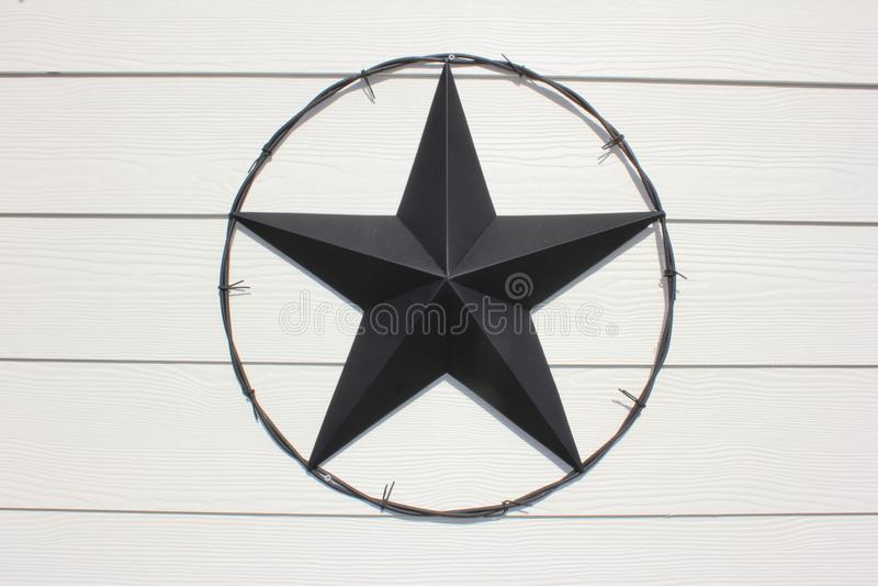 Texas Star nero immagine stock