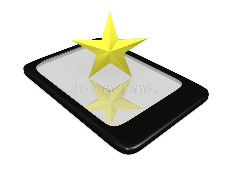 Download Texas Star on Touch Pad stock illustration. Image of electronics - 27569489