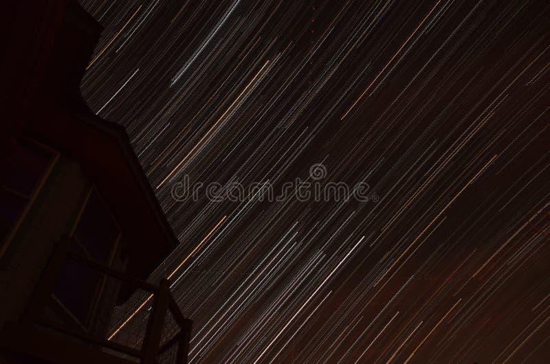 Texas Star Trails centrale fotografie stock libere da diritti