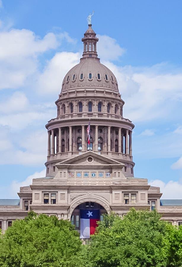 Texas State Capital Building in Austin Texas. The Texas State Capital Building in Austin Texas with Texas flag and trees stock photos