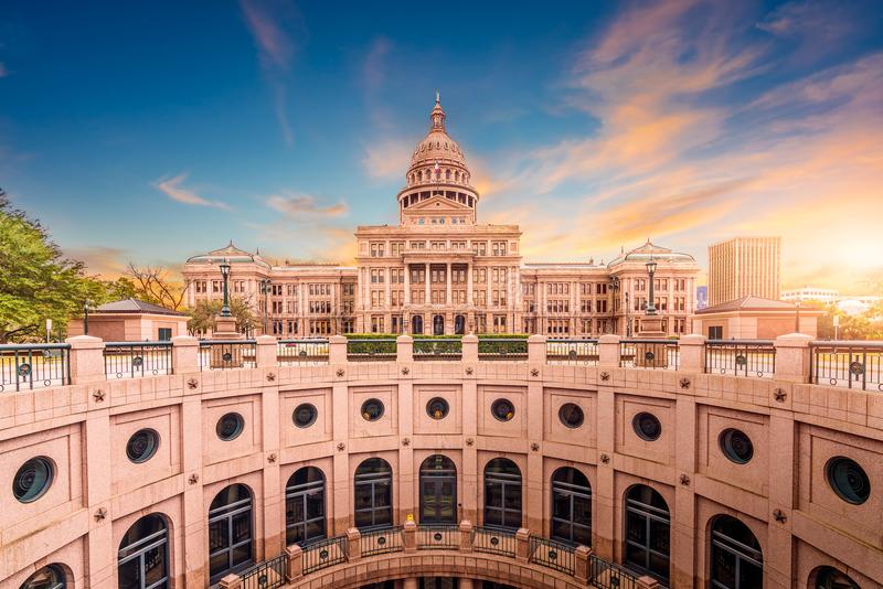 Texas State Capitol Building stock images