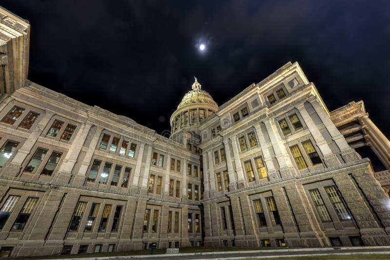 Texas State Capitol Building, noche imagen de archivo