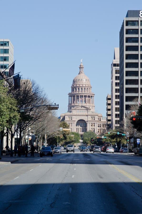 Texas State Capitol-de bouw royalty-vrije stock foto's