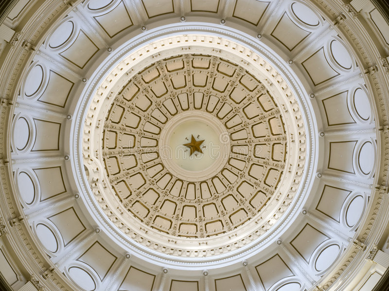 Texas State Capitol Dome stock photography