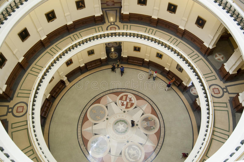 Texas State Capitol Ground Floor royalty free stock image