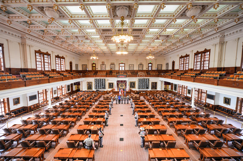 Texas State Capitol House av representanter, Austin, Texas arkivbilder