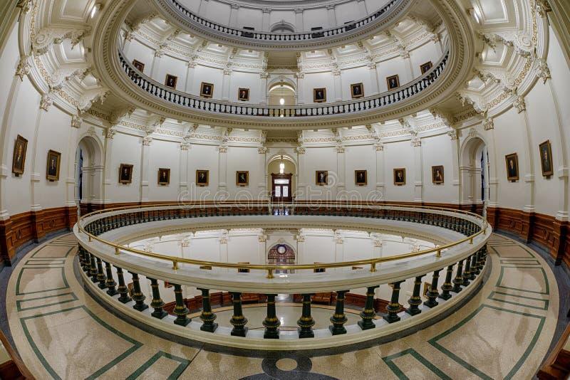 Texas State Capitol Rotunda imagens de stock