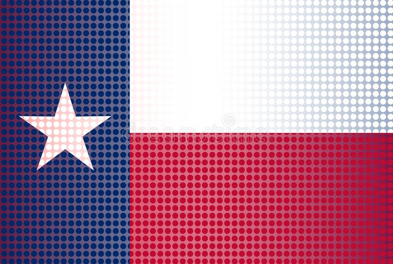 Texas State Doted Flag Background vector illustratie