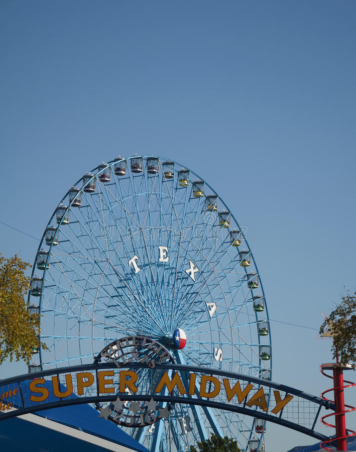 Texas State Fair Ferris Wheel royaltyfri bild