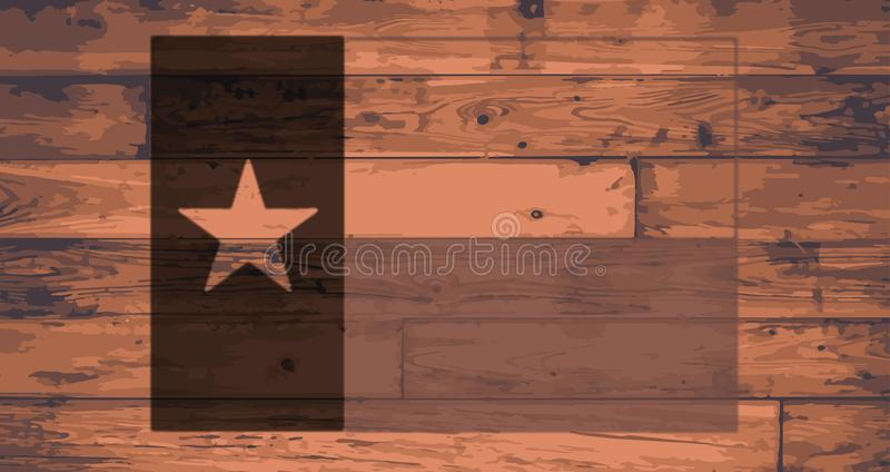 Texas State Flag Brand royalty-vrije illustratie