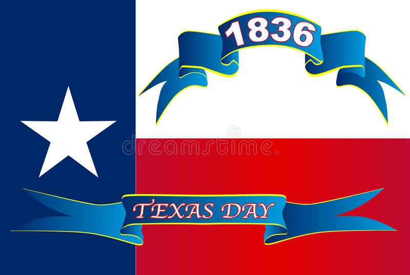 Texas State Flag For Texas-Dag vector illustratie