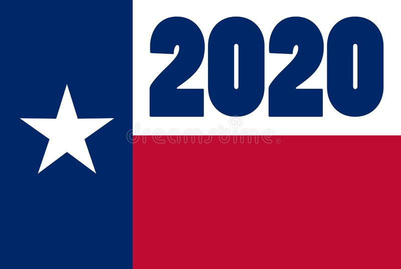 Texas State Flag 2020 royalty-vrije illustratie