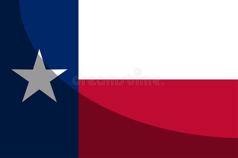 Texas State Flag Shadow vector illustratie