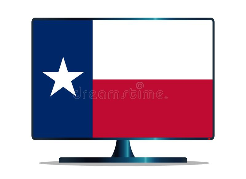 Texas State Flag-TV op Wit royalty-vrije illustratie