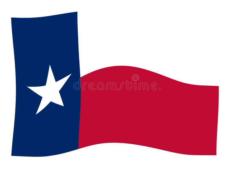 Texas State Flag Wave stock illustratie