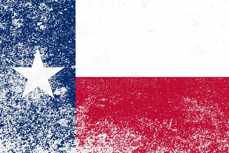 Texas State Grunge Flag vector illustratie