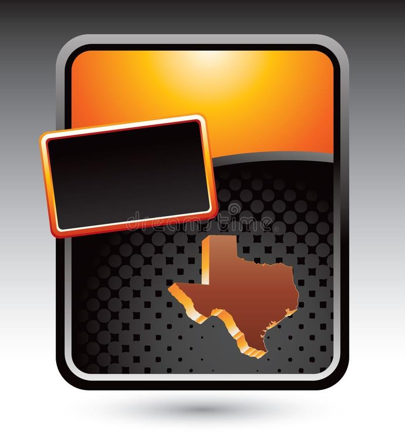Texas state icon on orange stylized advertisement vector illustration