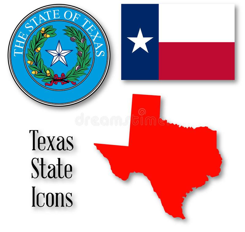 Texas State Icons vektor illustrationer