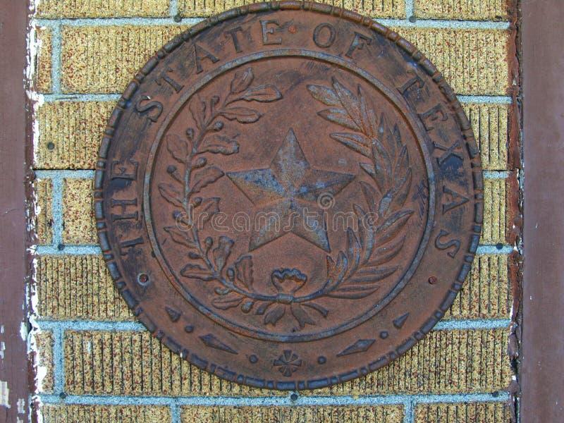 Texas State Seal On un mur image libre de droits