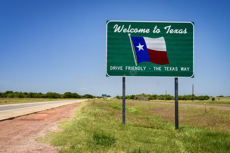 Texas State Sign stock foto's