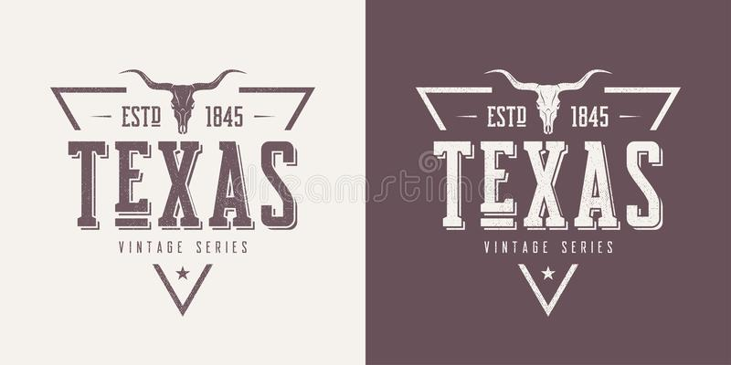 Texas state textured vintage vector t-shirt and apparel design, vector illustration