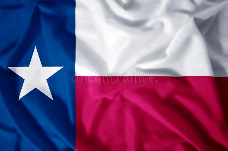 Texas. Stylish waving and closeup flag illustration. Perfect for background or texture purposes royalty free illustration