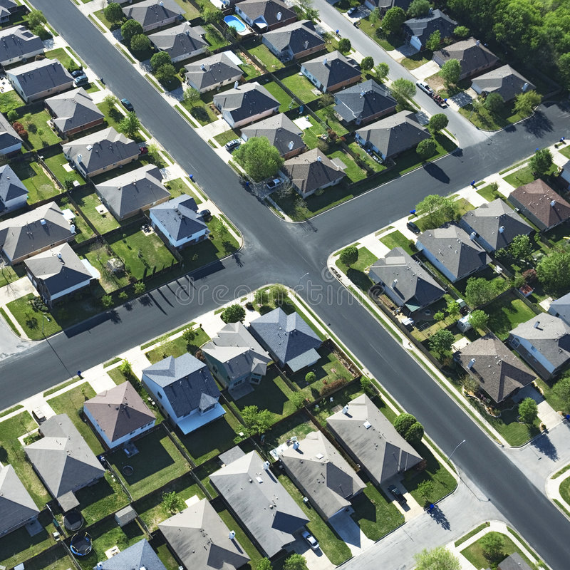 Texas suburb. stock images