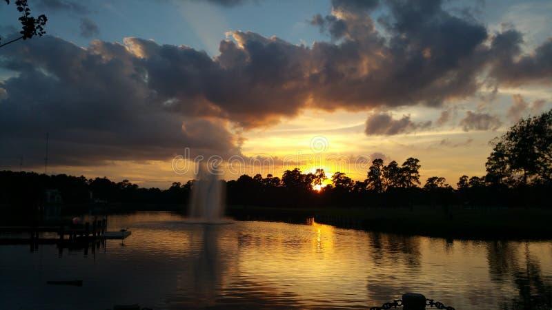 Texas Sunset fotografia stock