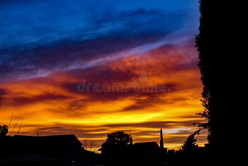 Texas Sunset royaltyfria foton