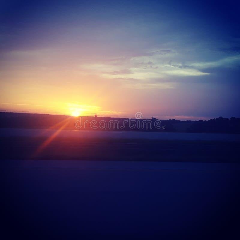 Texas Sunset royalty-vrije stock foto's