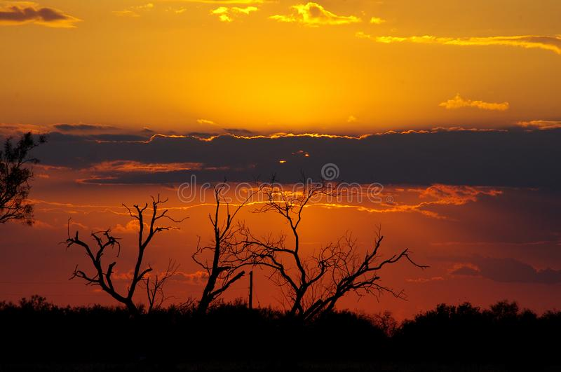 Texas Sunset spectaculaire image libre de droits