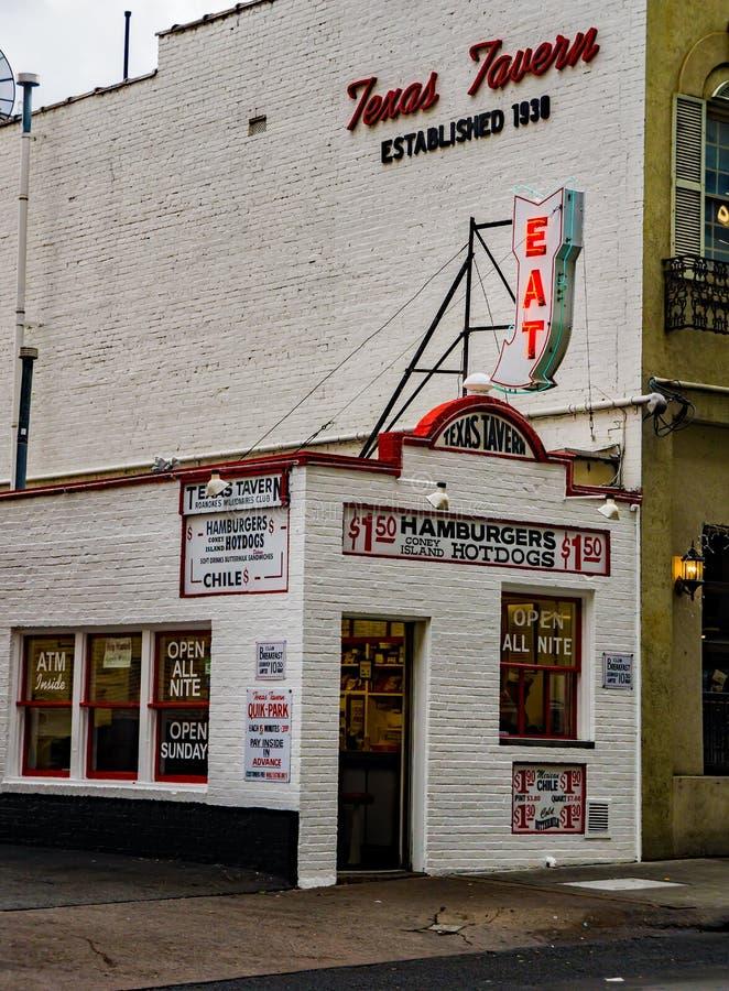 "Texas Tavern †""Roanoke, VA - 2 royaltyfri fotografi"