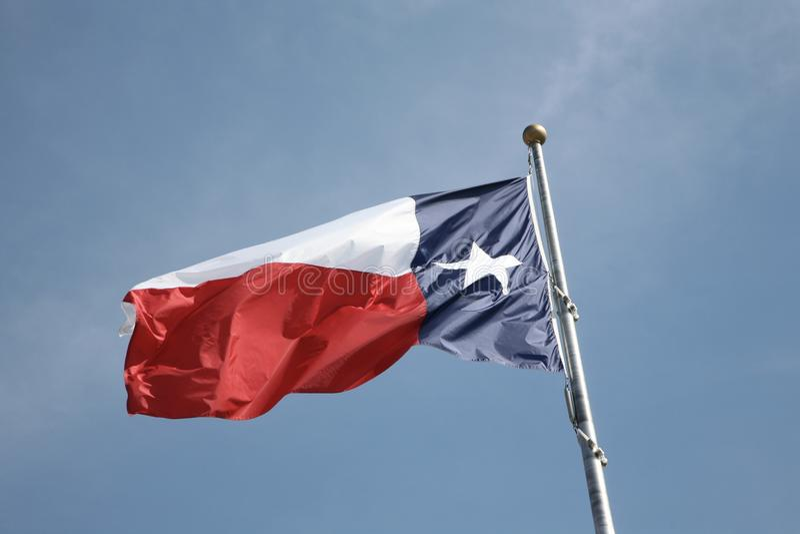Texas tillståndsflagga arkivfoto