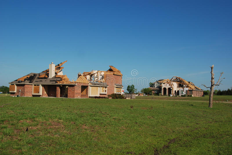 Texas Tornado - Destroyed Homes stock image
