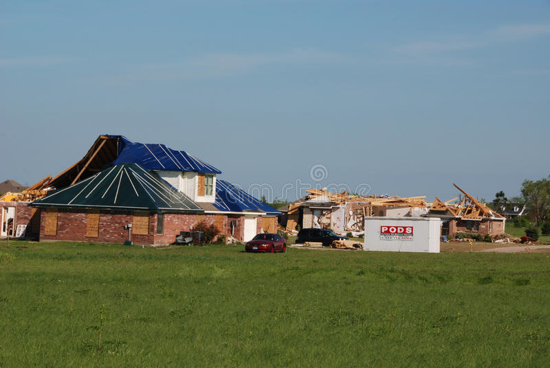 Texas Tornado - Destroyed Neighborhood royalty free stock image