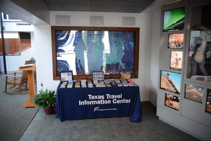 Texas Travel Information Center Desk photo stock