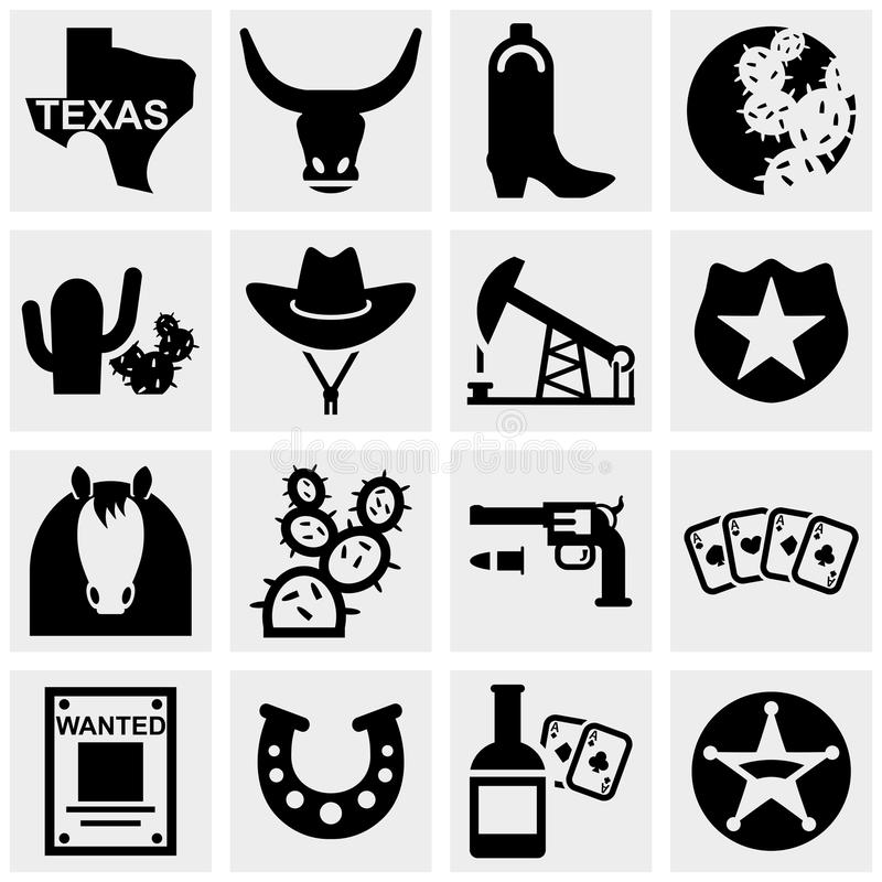 Download Texas Vector Icons Set On Gray. Stock Vector - Image: 33973191