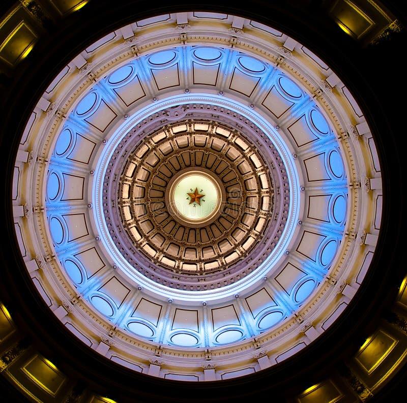 Texas verzadigt de koepel van het Capitool (binnen) royalty-vrije stock fotografie