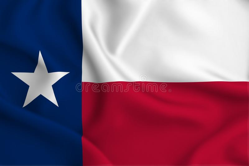 Texas flag illustration. Texas waving and closeup flag illustration. Perfect for background or texture purposes royalty free illustration