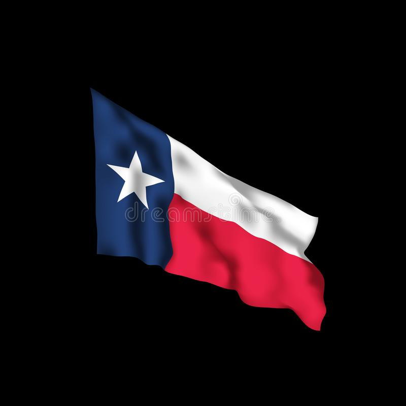 Texas Waving Flag Vector illustratie stock illustratie