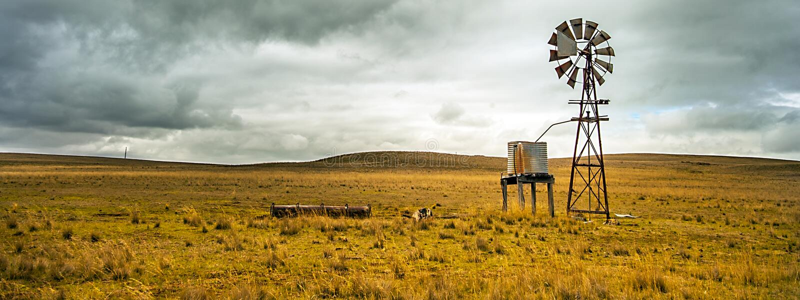 Texas Wheel im Hinterland bei Tumut Australien lizenzfreies stockbild