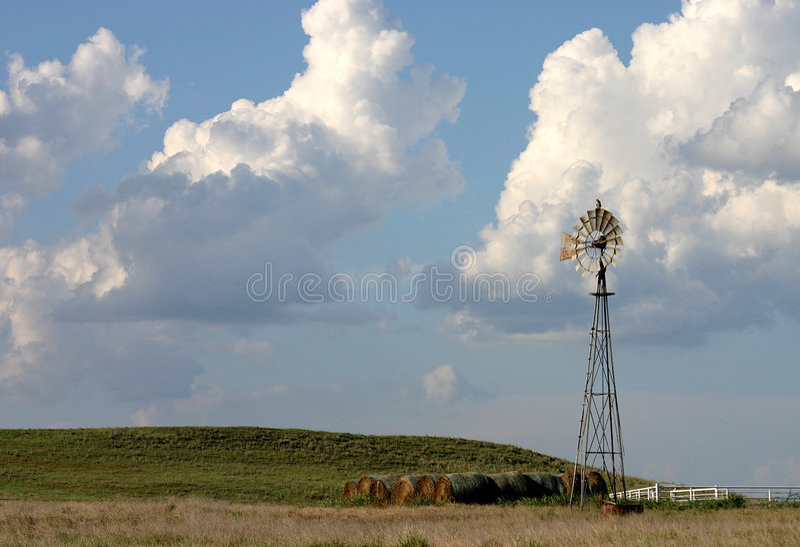 Texas-Windmühle stockbild