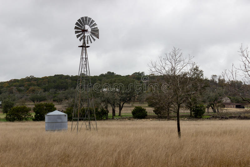 Texas Windmill photos stock