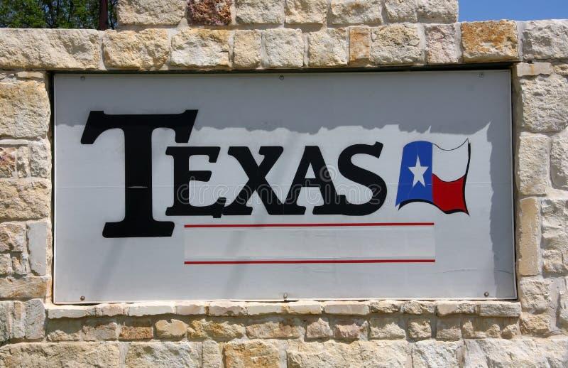 TEXAS-Zeichen lizenzfreie stockbilder