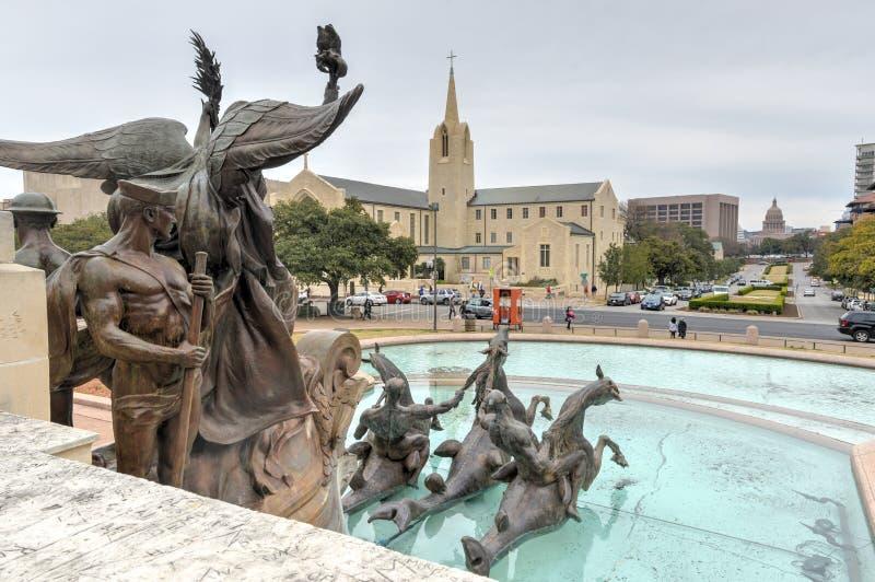 Texasuniversitetet - Austin, Texas arkivfoton