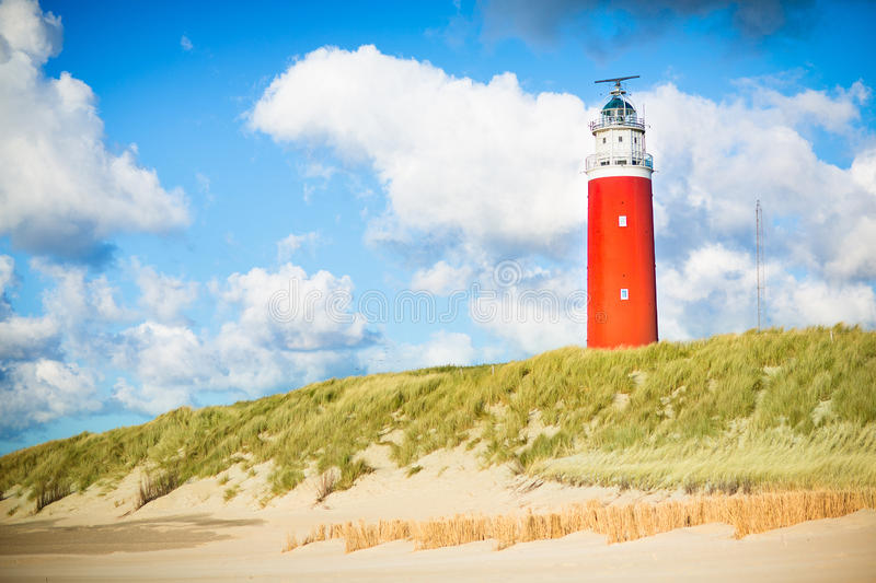 Texel lighthouse royalty free stock images