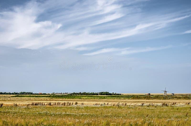 Texel sotto un cielo di estate fotografie stock libere da diritti