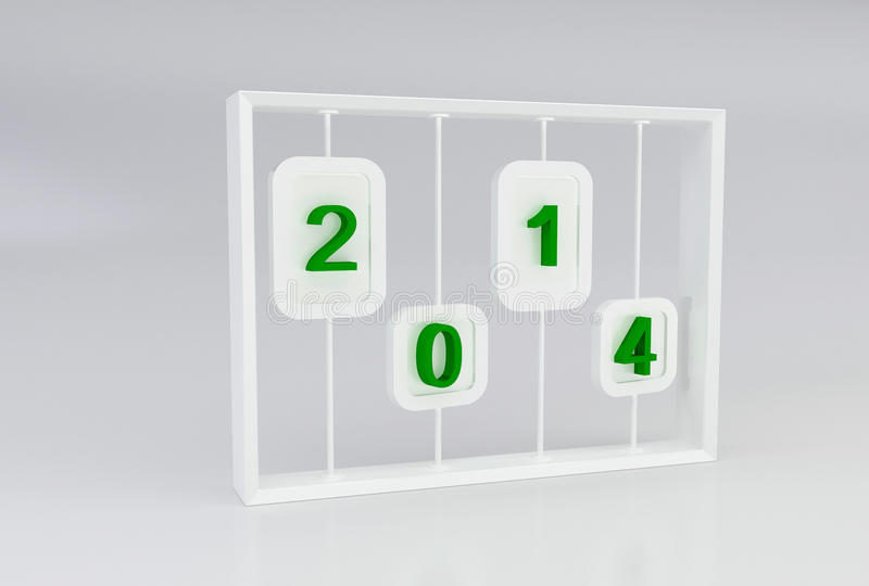 2014 Text On Abacus Toy Stock Photo